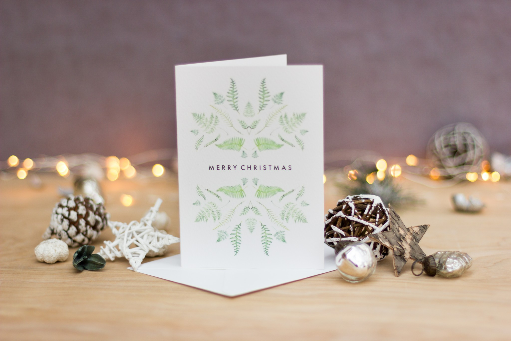 Fern Christmas Card Farwood Photography
