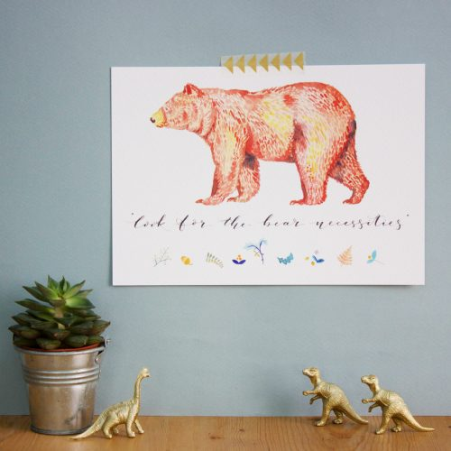 Bear Necessities print