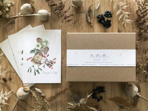 comfort and joy botanical christmas card