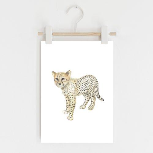 Cheetah safari nursery print