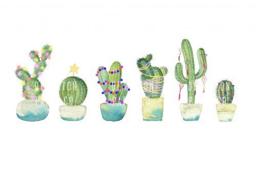 cactus watercolour tutorial