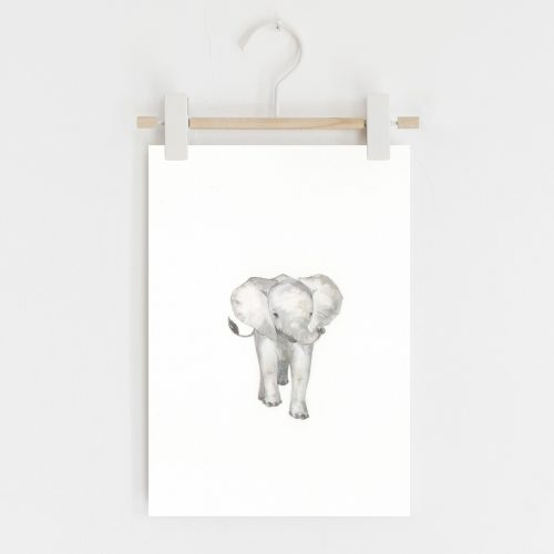 Elephant safari nursery print