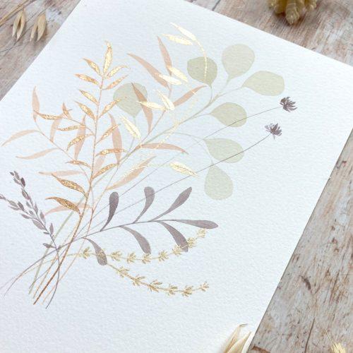 Tutorial painting modern botanicals