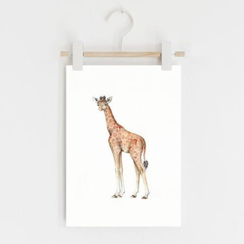 Giraffe safari nursery print