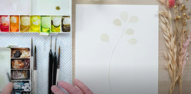 painting watercolour modern botanicals