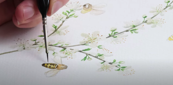 Painting honey bees