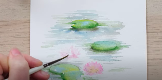 Painting water lilies