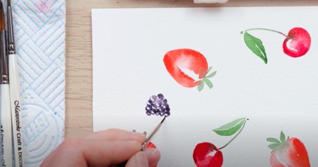 how to paint summer berries