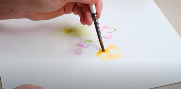 paint and relax watercolour bouquet