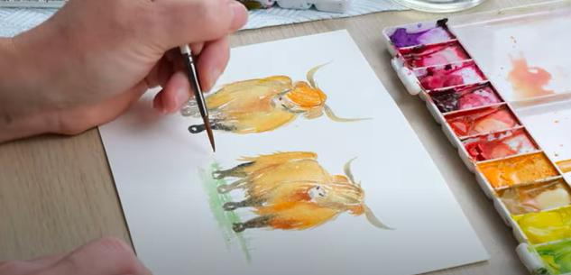 finishing watercolour details
