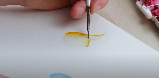 practice colour blending watercolour
