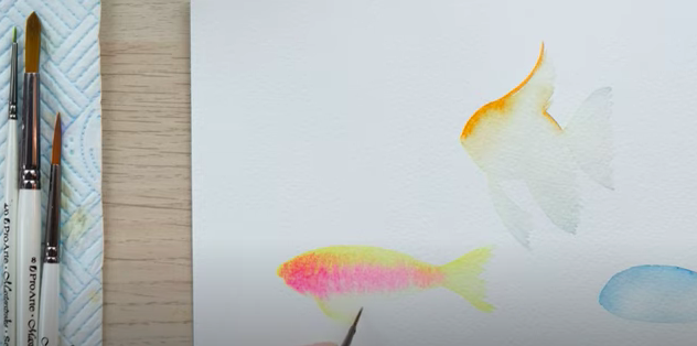 how to paint watercolour fish