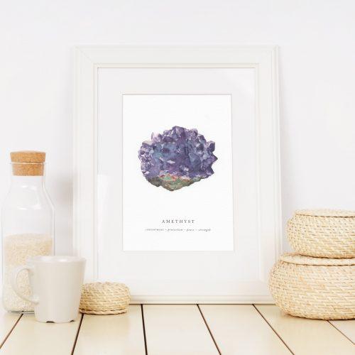 amethyst crystal print