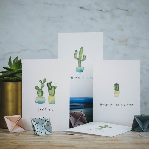 Cactus greetings cards