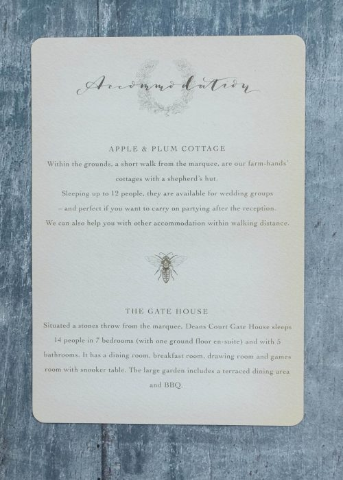 Queen Bee Information Card. Image Farwood Photography