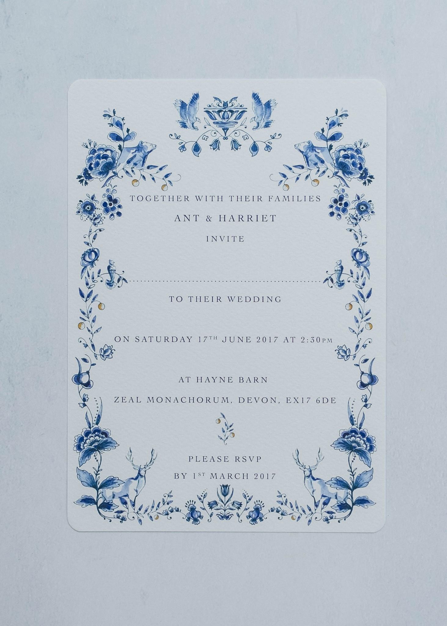 Ophelia Invitation. Image Farwood photography
