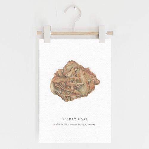 desert rose crystal print