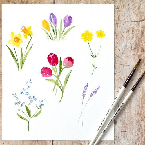tutorial beginner loose watercolour