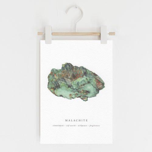 malachite crystal print