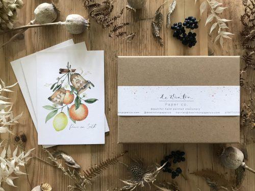 Peace on Earth Botanical Christmas Card