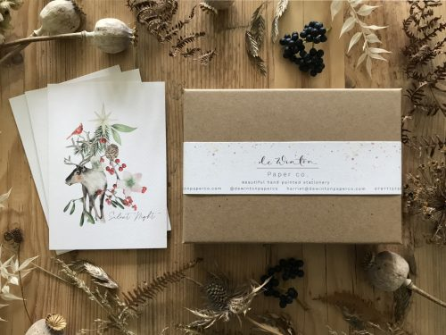 Silent Night Botanical Christmas Card